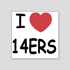"14ERS Square Sticker 3"" x 3"""