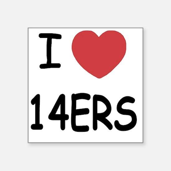 "14ERS Square Sticker 3"" x 3"""