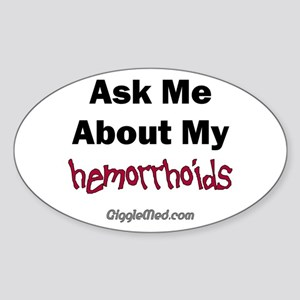 Hemorrhoids Oval Sticker