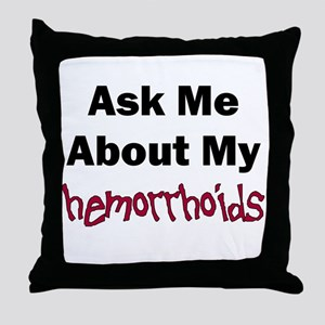 Hemorrhoids Throw Pillow