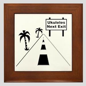 funny ukulele gift uke t-shirts ukulel Framed Tile