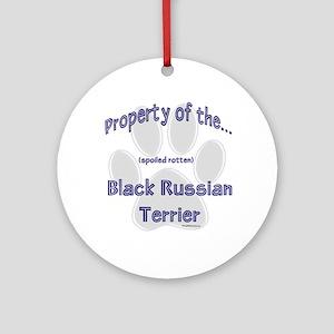 Black Russian Property Ornament (Round)