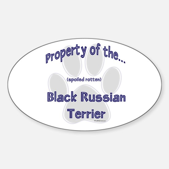 Black Russian Property Oval Decal