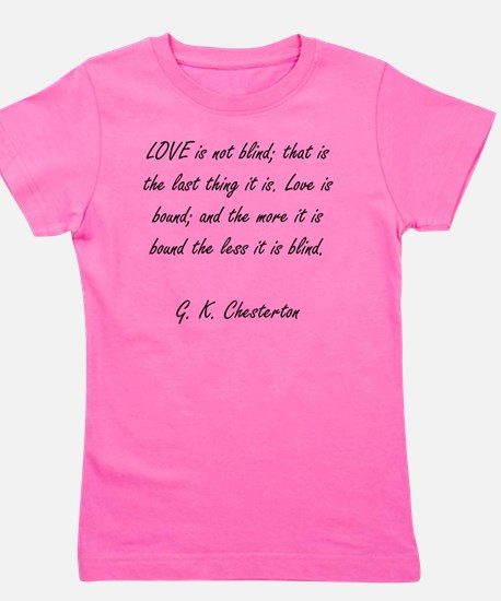 love is not blind Girl's Tee