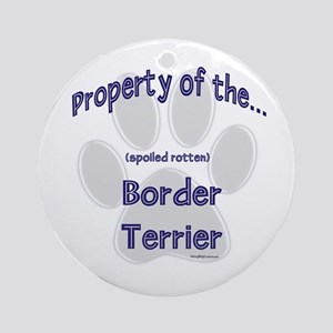 Border Terrier Property Ornament (Round)