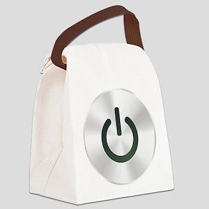 powerBtn1A Canvas Lunch Bag