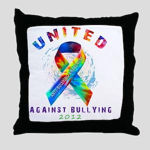 unitedagainstbullying-dark2 Throw Pillow