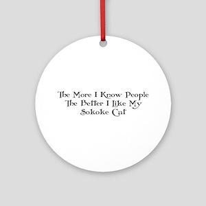Like Sokoke Ornament (Round)