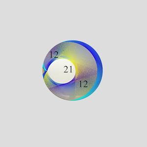 12 21 12 Cardioid Blue Star II Mini Button