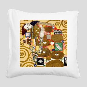 Klimt Cal L Square Canvas Pillow