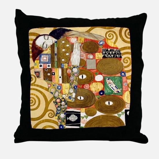 Klimt Cal L Throw Pillow