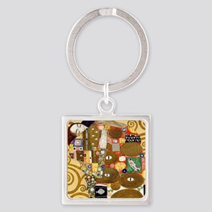 Klimt Cal L Square Keychain