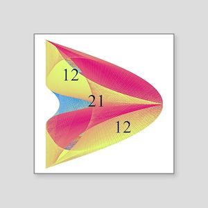 "Redish Paraboloid 12 21 12 Square Sticker 3"" x 3"""