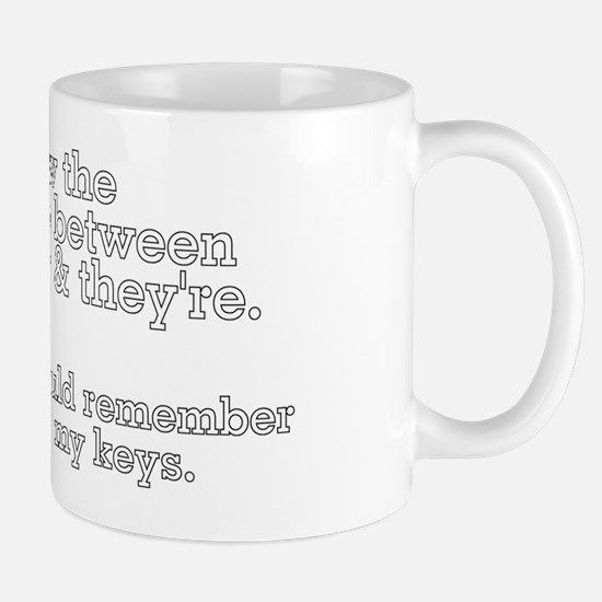 Know the Differencee There Keys Mug