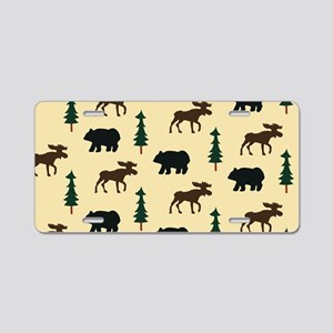 Bear Moose Laptop Skin Aluminum License Plate