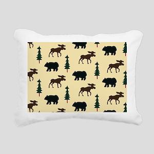 Bear Moose Laptop Skin Rectangular Canvas Pillow