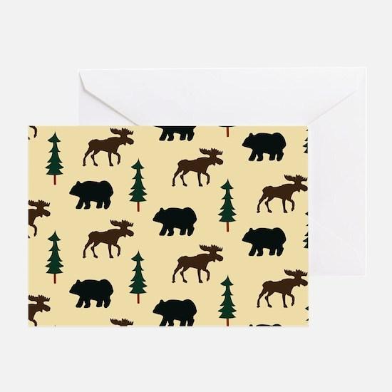 Bear Moose Laptop Skin Greeting Card