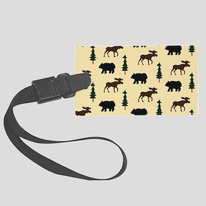 Bear Moose Laptop Skin Large Luggage Tag