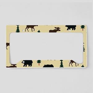 Bear Moose Laptop Skin License Plate Holder