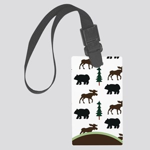 moose and bear Large Luggage Tag