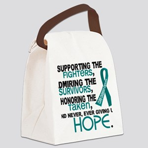 D Ovarian Cancer Supporting Admir Canvas Lunch Bag