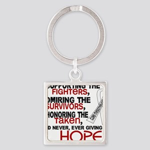 D Mesothelioma Supporting Admiring Square Keychain