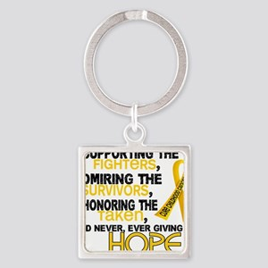 D Supporting Admiring Honoring 3.2 Square Keychain