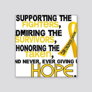 """D Supporting Admiring Honor Square Sticker 3"""" x 3"""""""