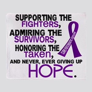 D Pancreatic Cancer Supporting Admir Throw Blanket