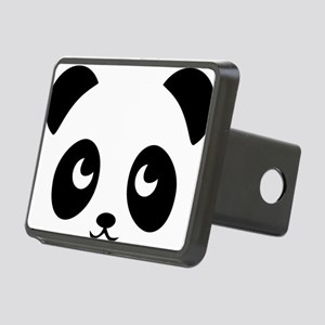 cute panda Rectangular Hitch Cover