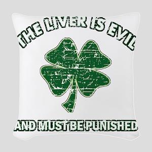 liver Woven Throw Pillow