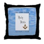Masonic Treasures. The oath. Throw Pillow