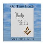 Masonic Treasures. The oath. Tile Coaster