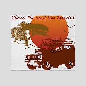 Road Less Traveled - Dark Throw Blanket