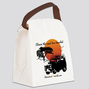 Road Less Traveled - White Canvas Lunch Bag