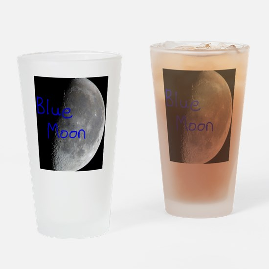 Once in a blue moon, beautiful luna Drinking Glass