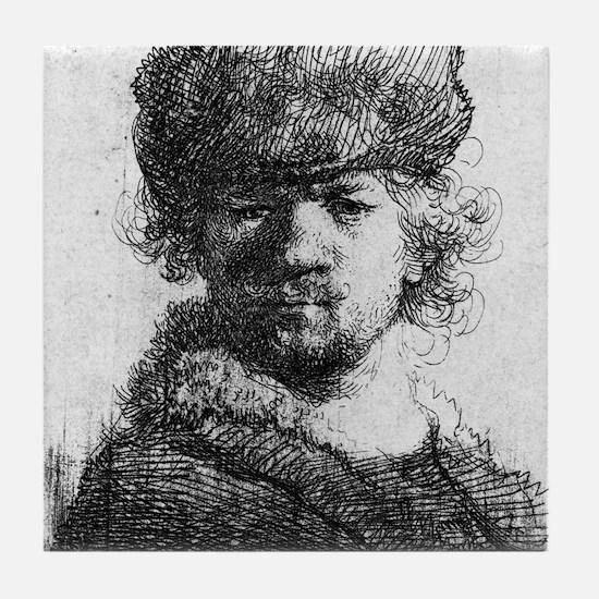 Rembrandt in a heavy fur cap - Rembrandt - 1631 Ti