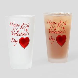 ValentineDay Drinking Glass