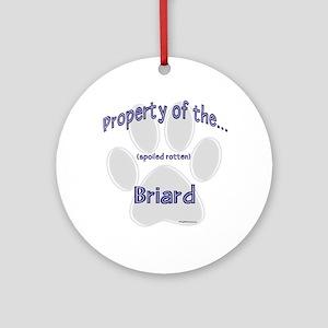 Briard Property Ornament (Round)