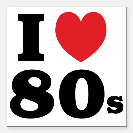 "1980F Square Car Magnet 3"" x 3"""