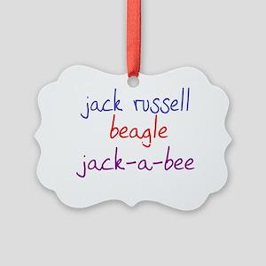 jackabee_black Picture Ornament