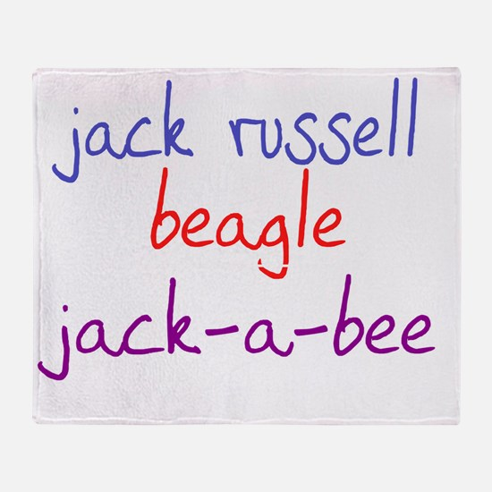 jackabee_black Throw Blanket