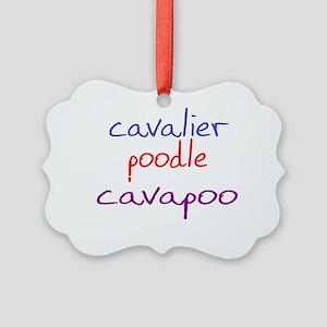 cavapoo_black Picture Ornament