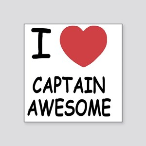 "CAPTAIN_AWESOME Square Sticker 3"" x 3"""