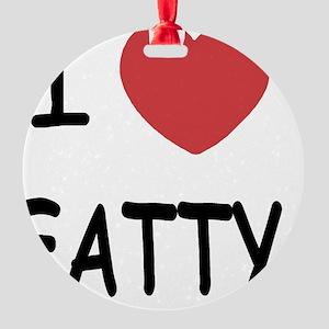 FATTY Round Ornament