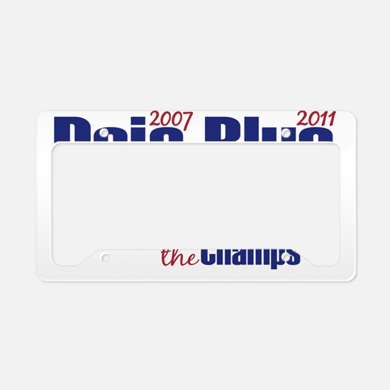 deja blue License Plate Holder