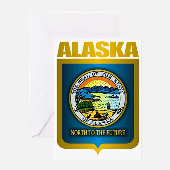 Alaska (Gold Label) Greeting Card