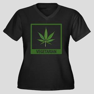 matt vegetar Women's Plus Size Dark V-Neck T-Shirt