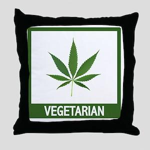 matt vegetarian copy Throw Pillow