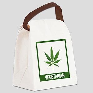 matt vegetarian copy Canvas Lunch Bag